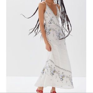 RESERVED NWT Embroidered Boho Vibes Maxi Dress